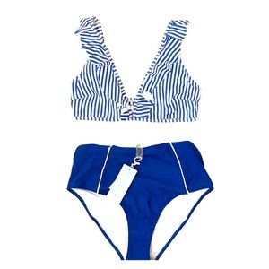 Blue and white bikini from cupshe